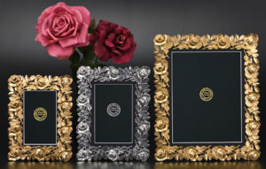 Elias Silver Pewter and Fine Gold Patina Picture Frames